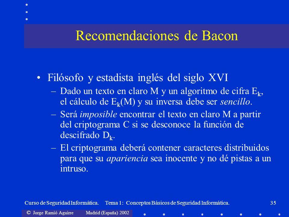 Recomendaciones de Bacon