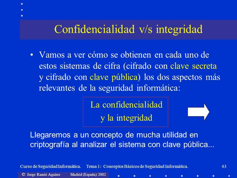 Confidencialidad v/s integridad