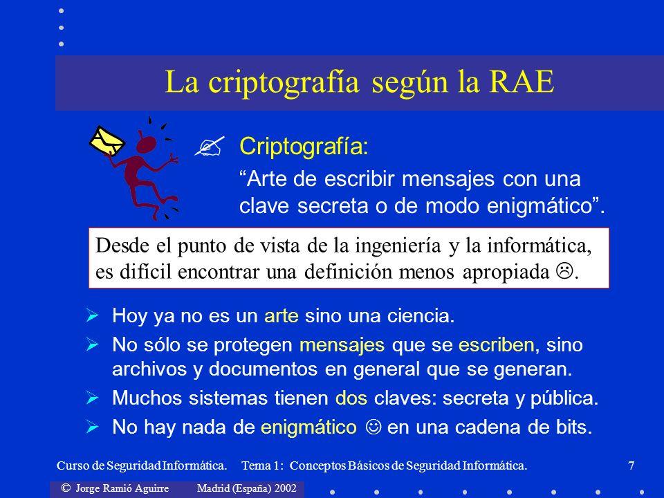La criptografía según la RAE
