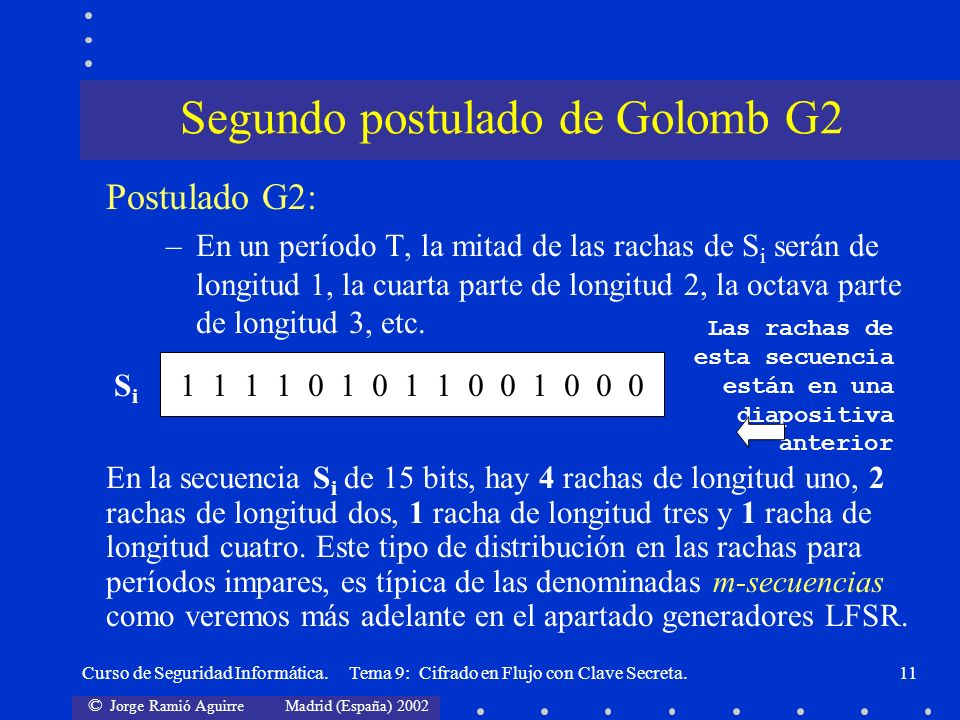 Segundo postulado de Golomb G2