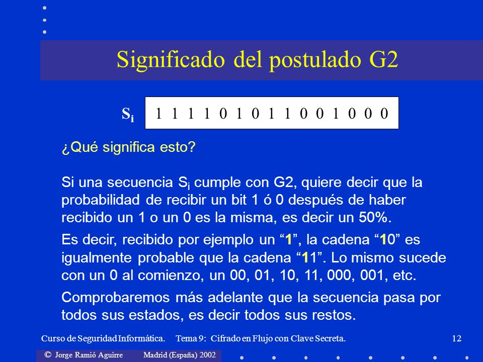 Significado del postulado G2