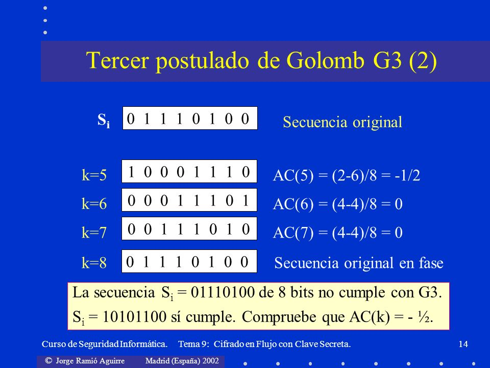 Tercer postulado de Golomb G3 (2)
