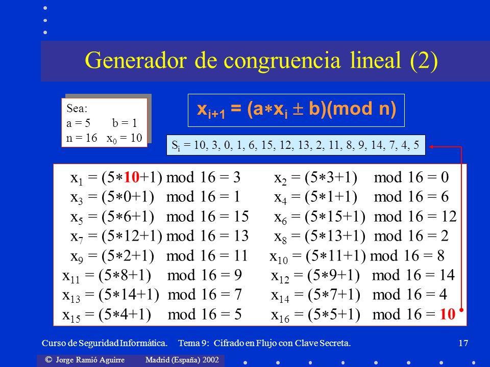 Generador de congruencia lineal (2)