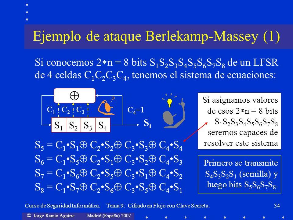 Ejemplo de ataque Berlekamp-Massey (1)