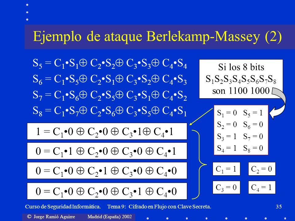 Ejemplo de ataque Berlekamp-Massey (2)