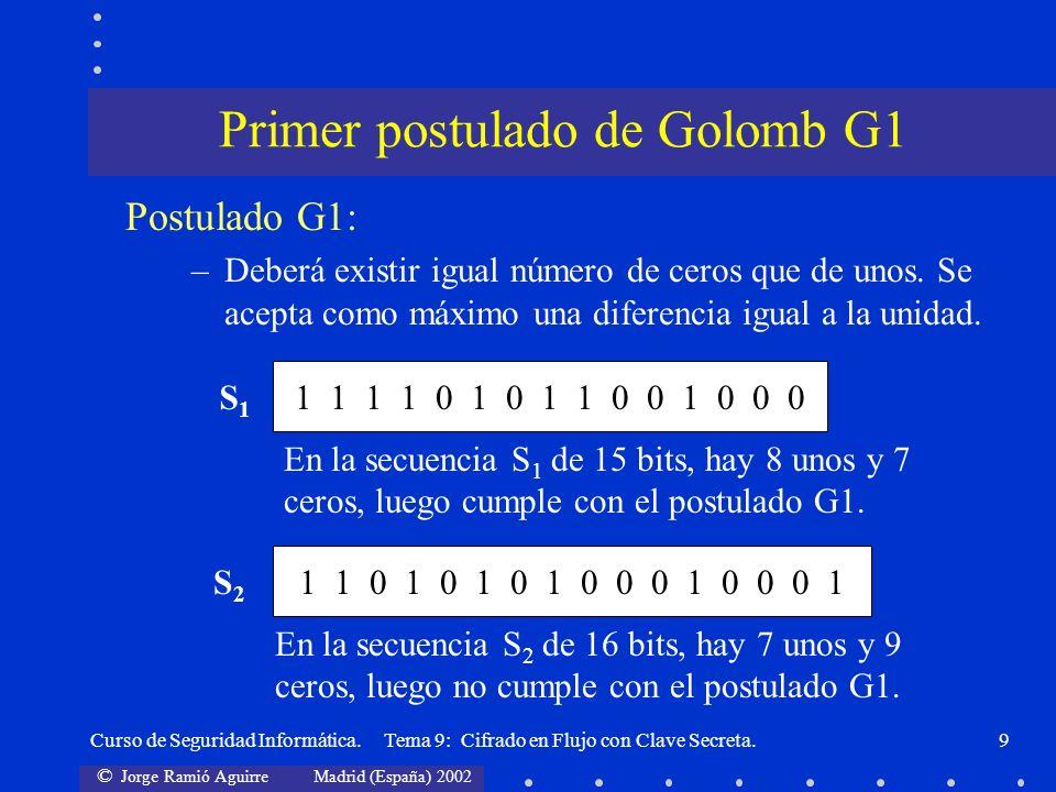 Primer postulado de Golomb G1