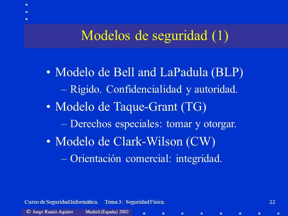Modelos de seguridad (1)