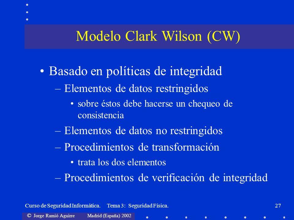 Modelo Clark Wilson (CW)