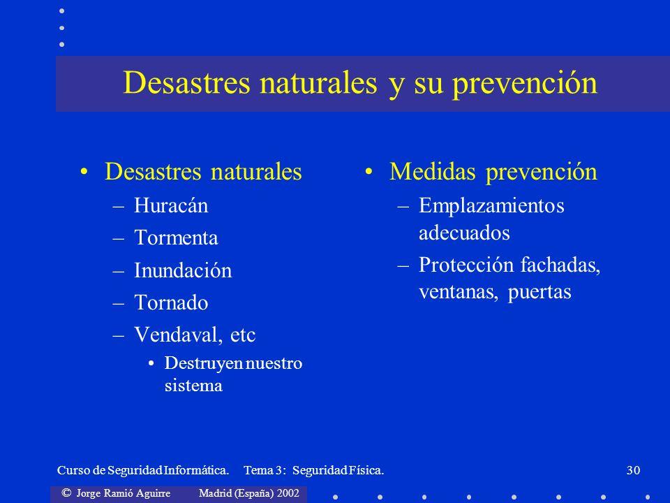 Desastres naturales y su prevención