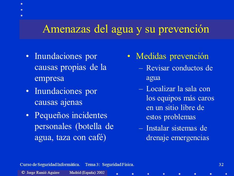 Amenazas del agua y su prevención