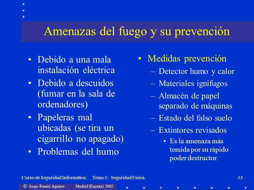 Amenazas del fuego y su prevención