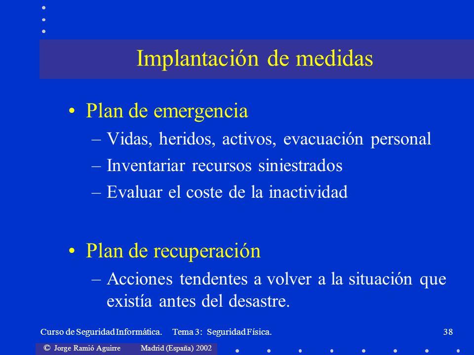 Implantación de medidas