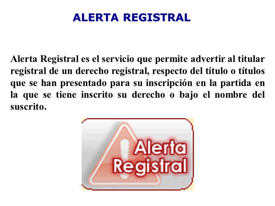 ALERTA REGISTRAL