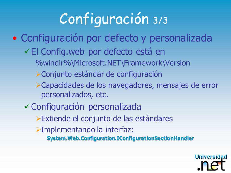 Configuración 3/3 Configuración por defecto y personalizada