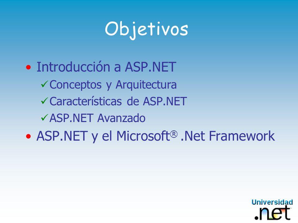 Objetivos Introducción a ASP.NET