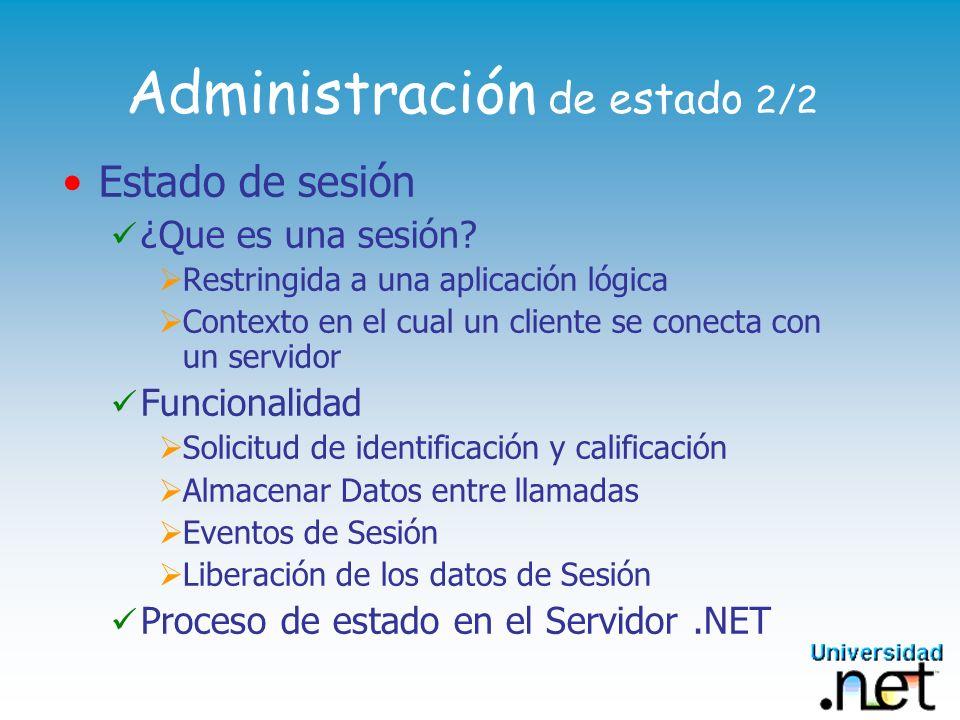 Administración de estado 2/2