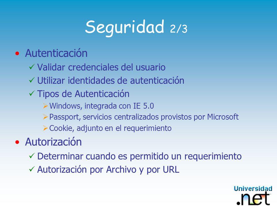 Seguridad 2/3 Autenticación Autorización