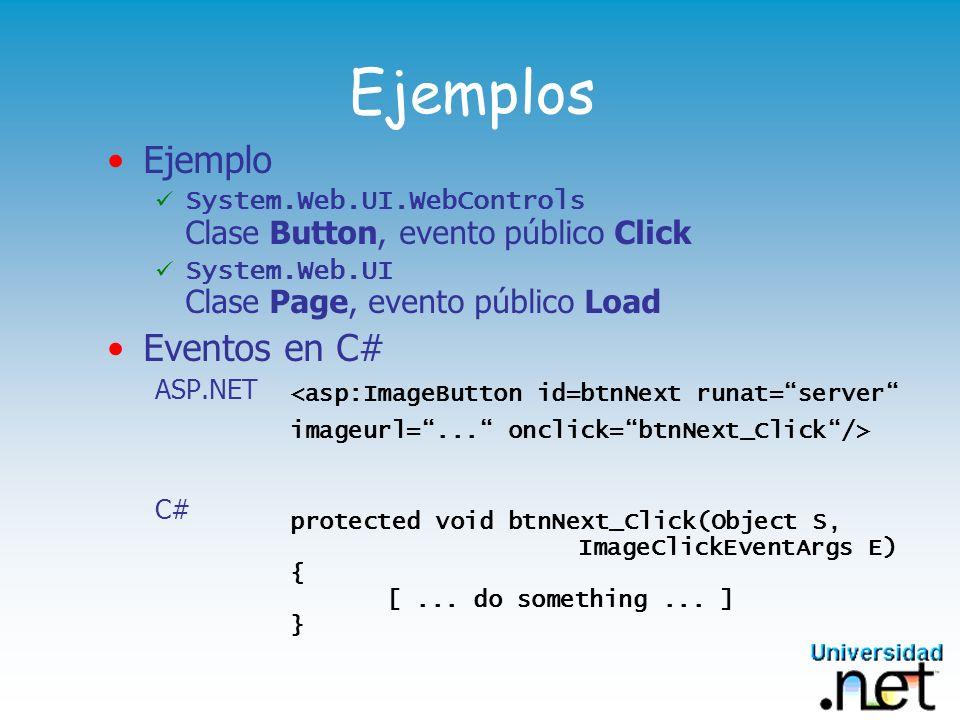 Ejemplos Ejemplo Eventos en C#
