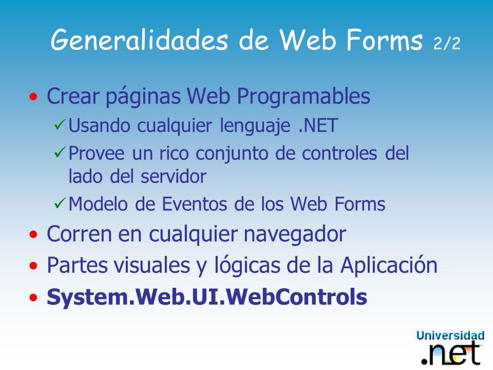 Generalidades de Web Forms 2/2