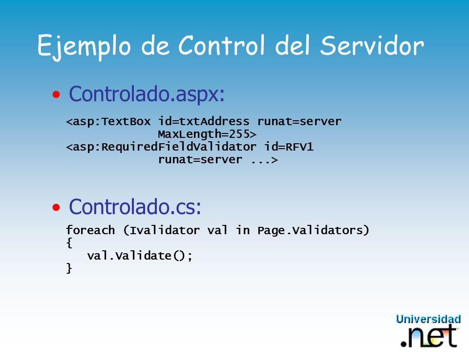 Ejemplo de Control del Servidor