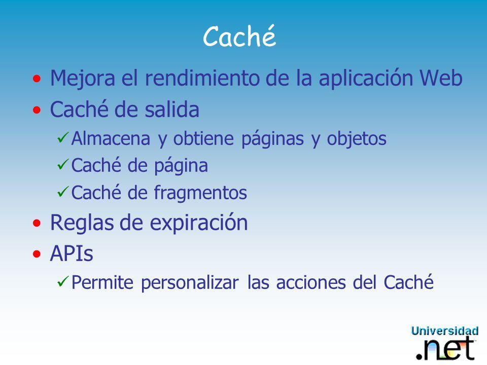 Caché Mejora el rendimiento de la aplicación Web Caché de salida