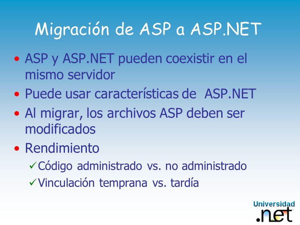 Migración de ASP a ASP.NET