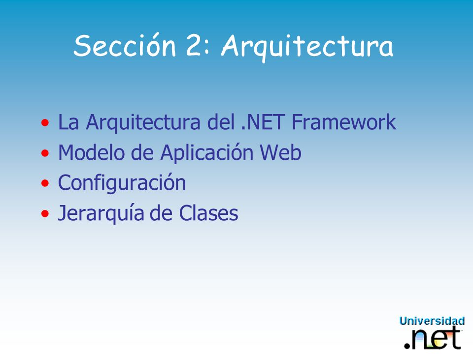 Sección 2: Arquitectura