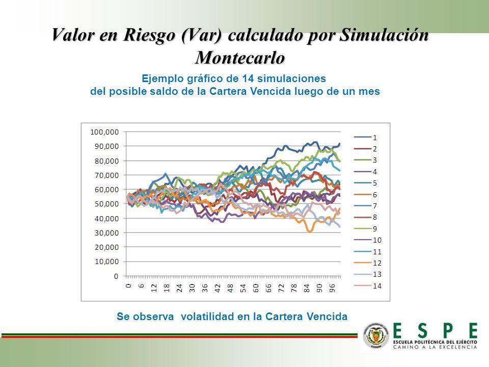 Valor en Riesgo (Var) calculado por Simulación Montecarlo