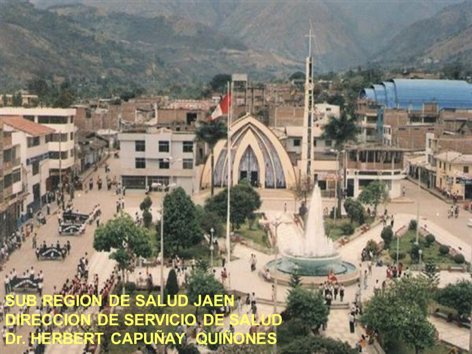 SUB REGION DE SALUD JAEN