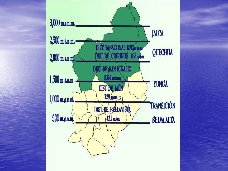 HUARANGO SAN JOSE DE. LOURDES. SAN IGNACIO. CHIRINOS. TABACONAS. LA COIPA. SANTA ROSA. BELLAVISTA.
