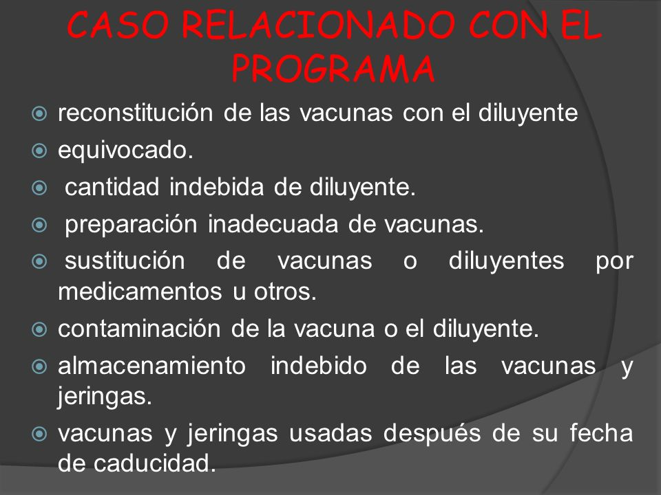 CASO RELACIONADO CON EL PROGRAMA