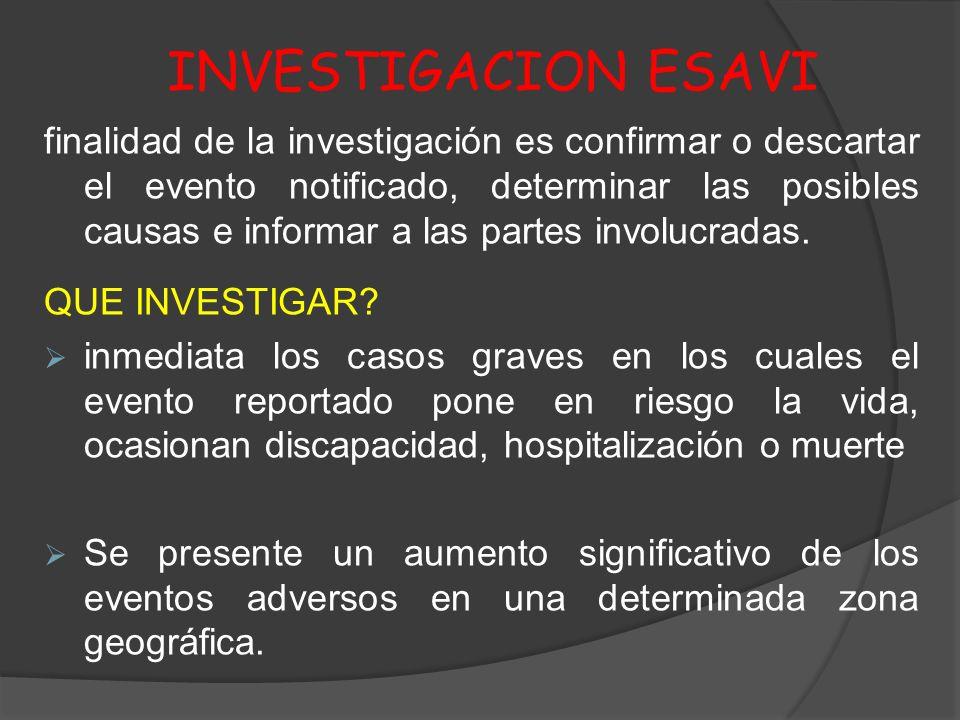 INVESTIGACION ESAVI