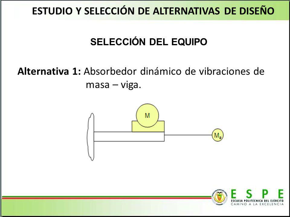 ESTUDIO Y SELECCIÓN DE ALTERNATIVAS DE DISEÑO
