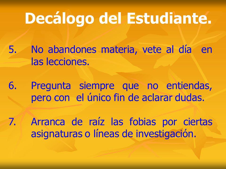 Decálogo del Estudiante.