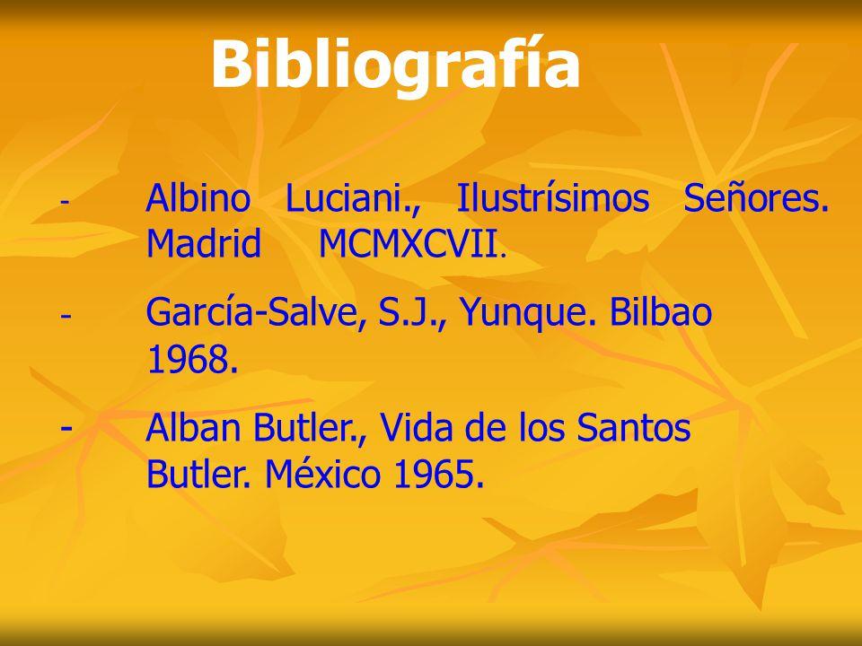 Bibliografía - García-Salve, S.J., Yunque. Bilbao 1968.