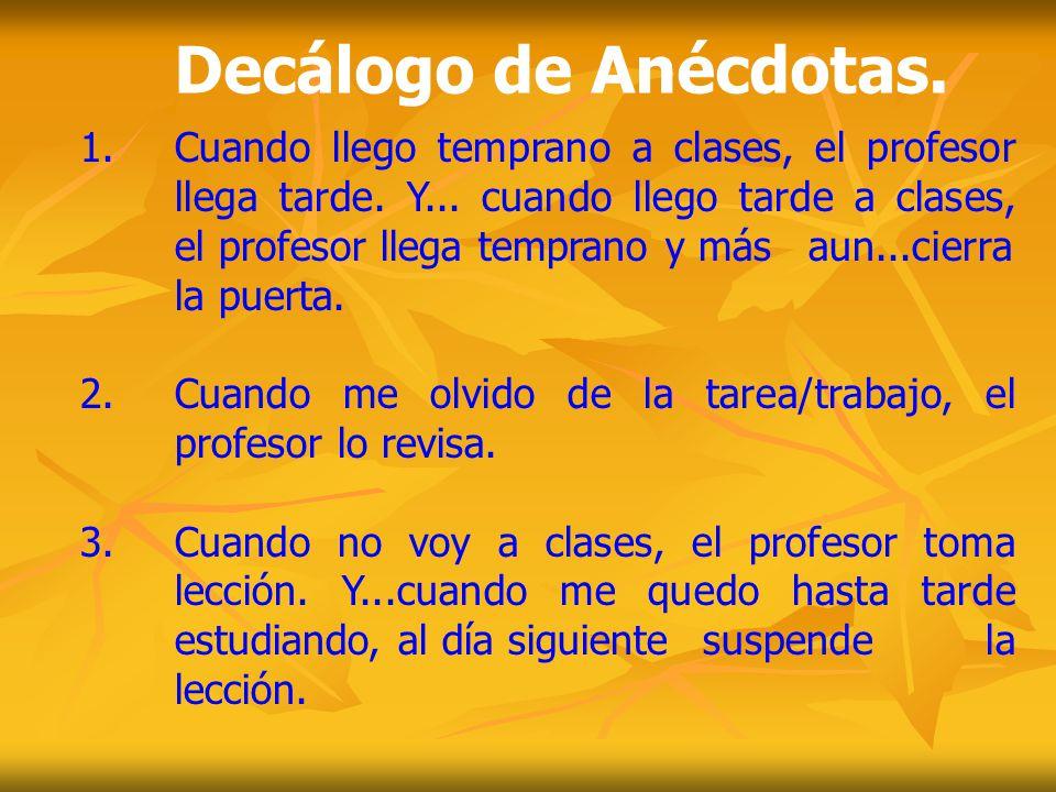 Decálogo de Anécdotas.