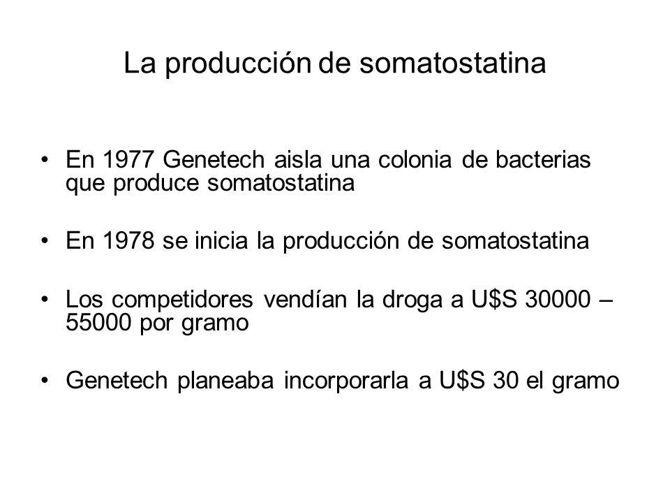 La producción de somatostatina