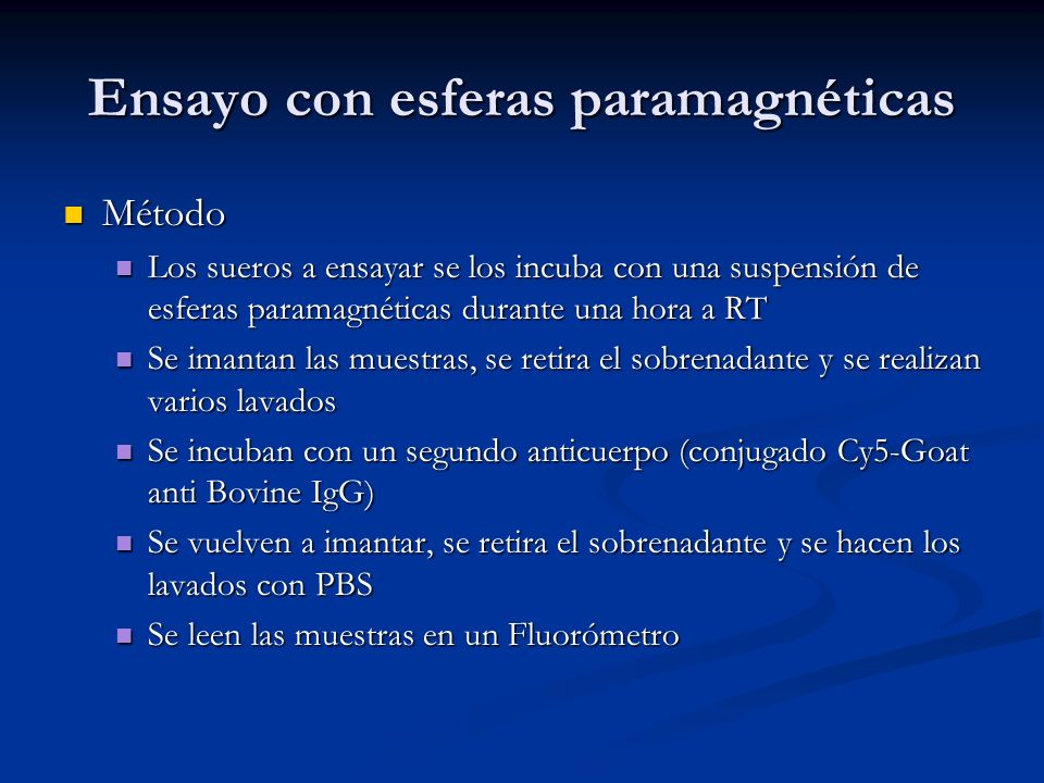 Ensayo con esferas paramagnéticas