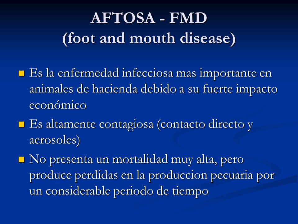 AFTOSA - FMD (foot and mouth disease)