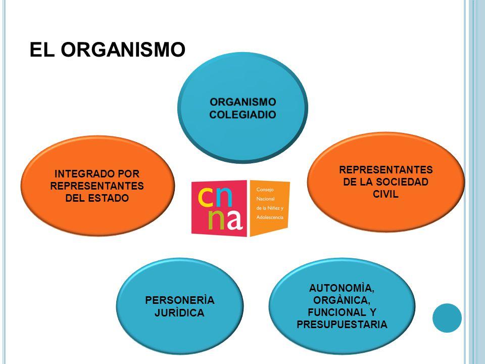 EL ORGANISMO ORGANISMO COLEGIADIO PERSONERÌA JURÌDICA