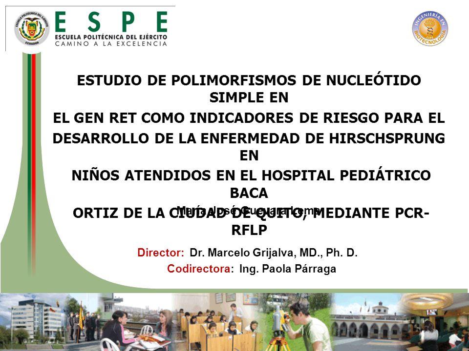 ESTUDIO DE POLIMORFISMOS DE NUCLEÓTIDO SIMPLE EN