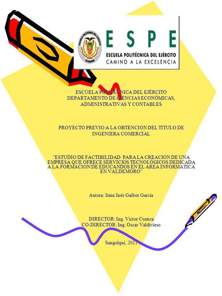 ESCUELA POLITÉCNICA DEL EJÉRCITO DEPARTAMENTO DE CIENCIAS ECONÓMICAS,
