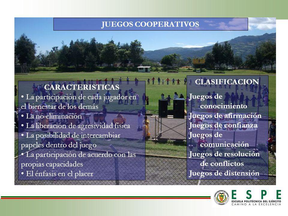 JUEGOS COOPERATIVOS CLASIFICACION. Juegos de conocimiento. Juegos de afirmación. Juegos de confianza.