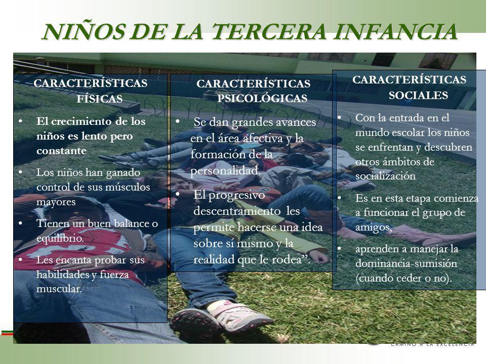 NIÑOS DE LA TERCERA INFANCIA