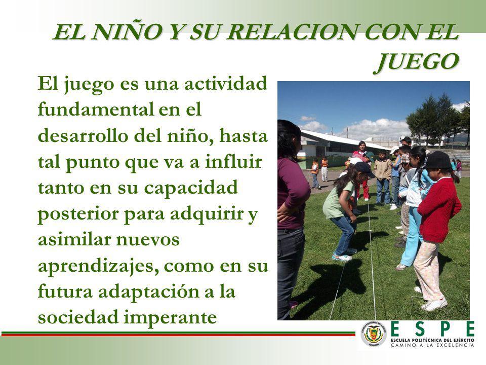 EL NIÑO Y SU RELACION CON EL JUEGO