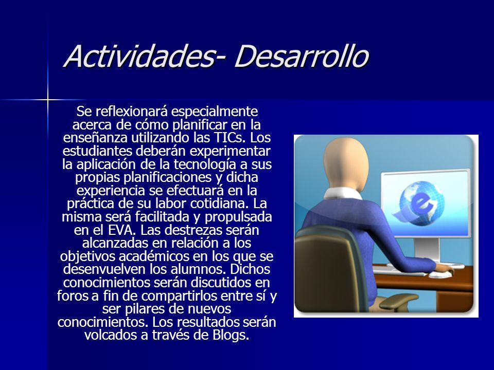 Actividades- Desarrollo
