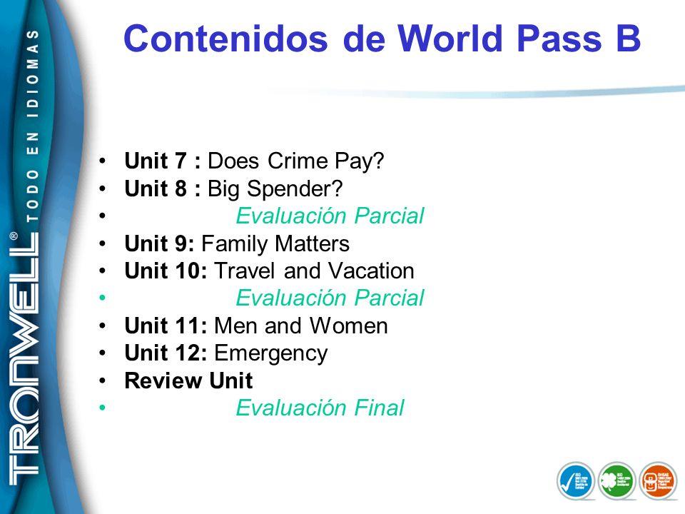Contenidos de World Pass B