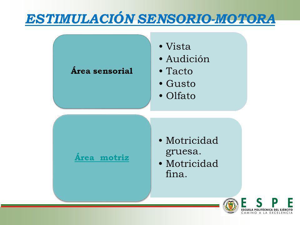 ESTIMULACIÓN SENSORIO-MOTORA