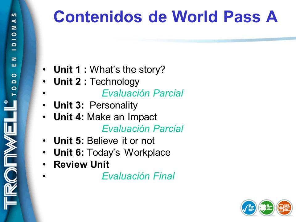 Contenidos de World Pass A