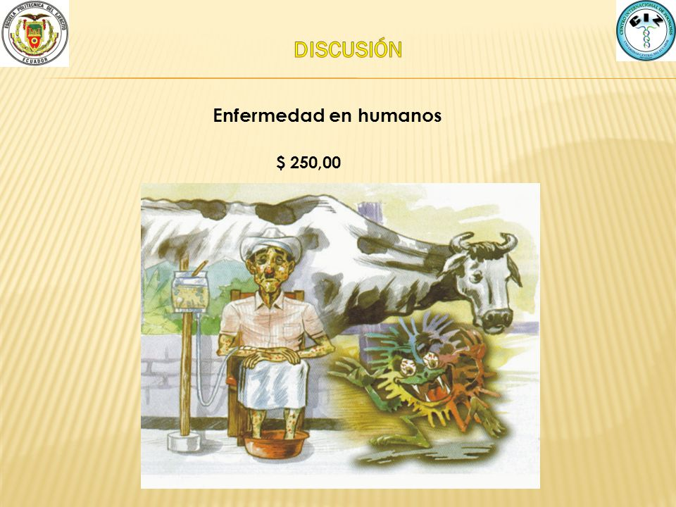 DISCUSIÓN Enfermedad en humanos $ 250,00